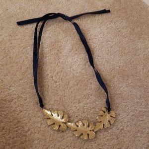 Francesca's Gold Leaf Necklace